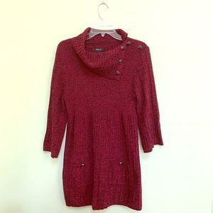 Style & Co.  Burgundy Red Sweater Dress.